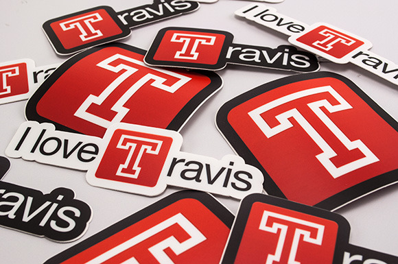 I love Travis logo
