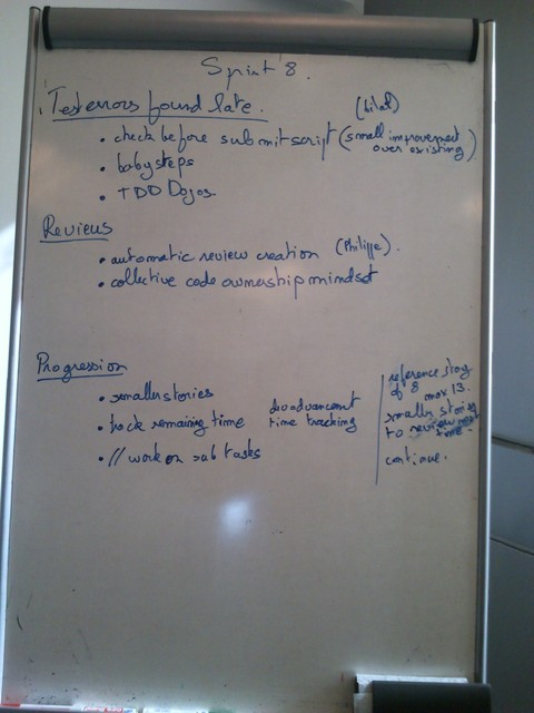Photo of the flipchart with agreed actions