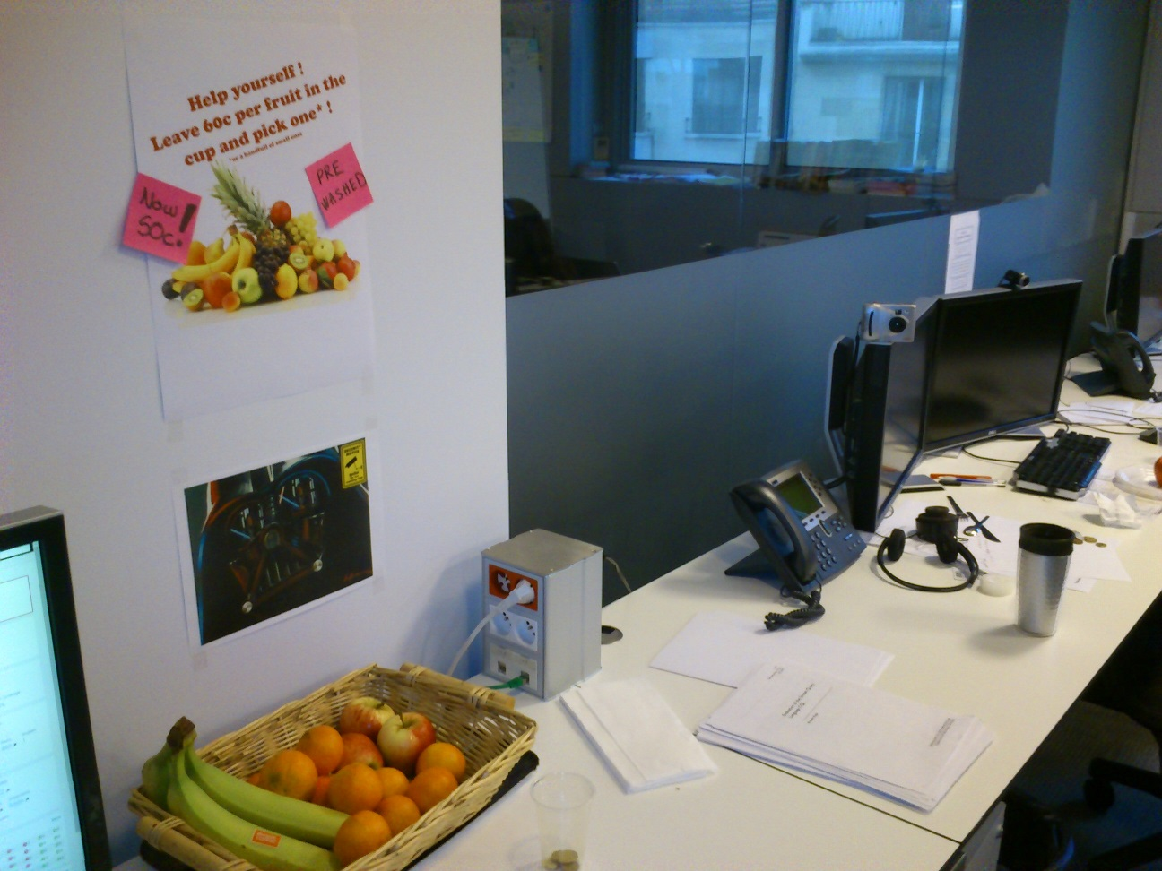 Our fruit basket at my desk