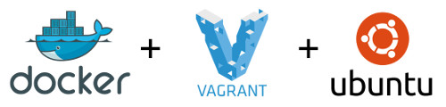 The 3 logos of Docker, Vagrant and Docker