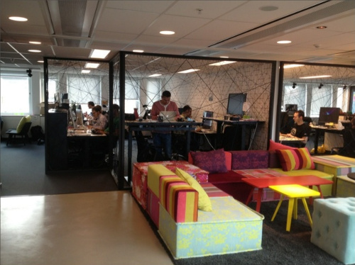 Team private work place at spotify