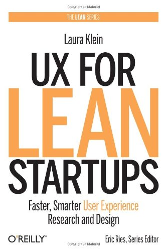 The cover of the book 'UX For Lean Startups'