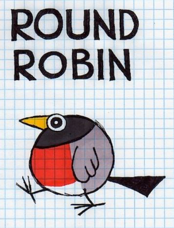 A fat round robin bird