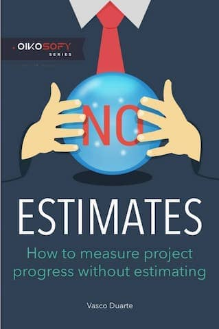 The cover of the No Estimates book