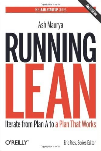 The cover of the Running Lean book