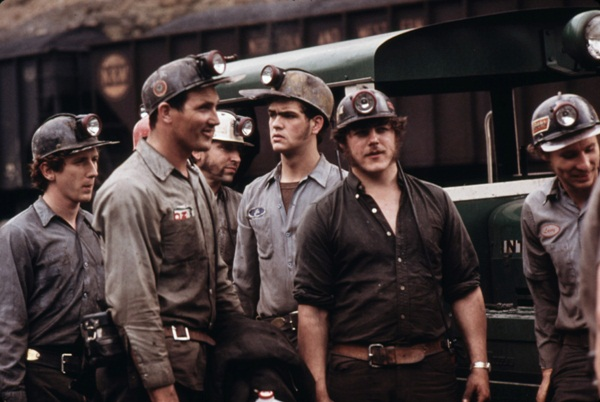 Miners going to work in Coveralls