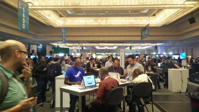 Photo of the JavaOne exhibition hall