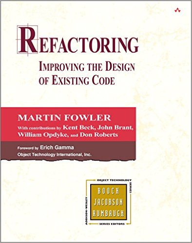 Front cover of the Martin Fowler's refactoring book