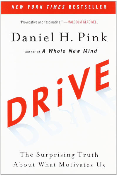 "The cover of the Daniel Pink's ""Drive"" book"