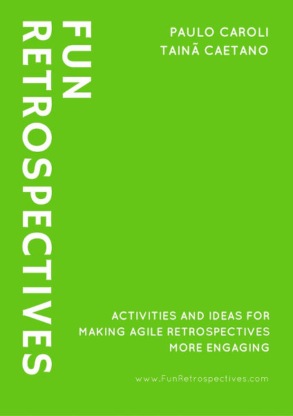 "The cover of the ""Fun Retrospectives"" book"