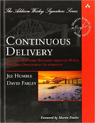 The cover of the continuous delivery book