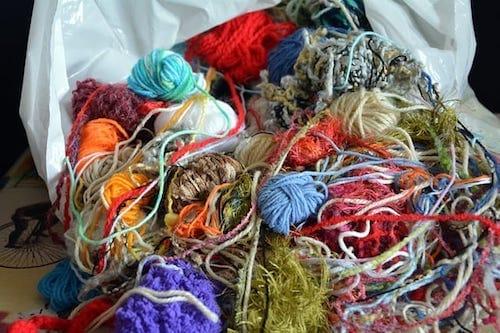Tangled wool