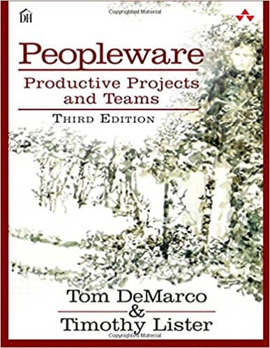 Cover of the 'Peopleware' book by Tom DeMarco & Timothy Lister
