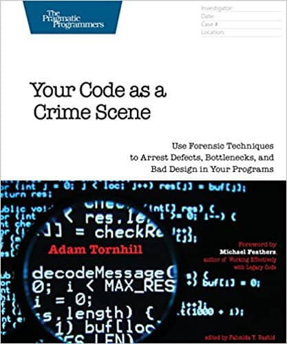 The 'Code as a Crime Scene' book cover