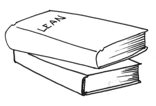 Drawing of books