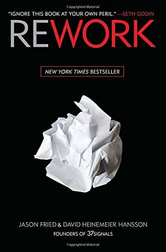 Cover of Rework book