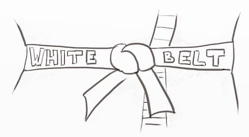 A white belt