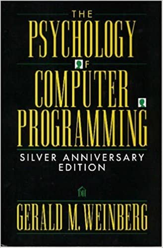 "The cover of ""The psychology of computer programming"""