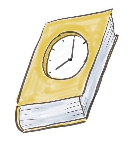 A book with built-in clock