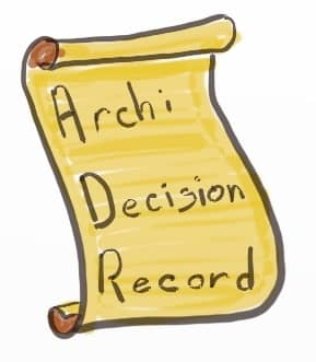 Drawing of an Architecture Decision Record which work great with asynchronous decision making