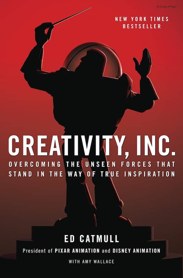 Cover of the Creativity.inc book. It contains lessons on Candor we should all read to become badass developers