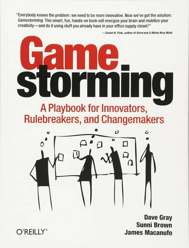 Cover of the Gamestorming book. This book contains a guide to create a visual agenda for your workshop. It was also one of the inspirations for the Event Storming workshop itself.