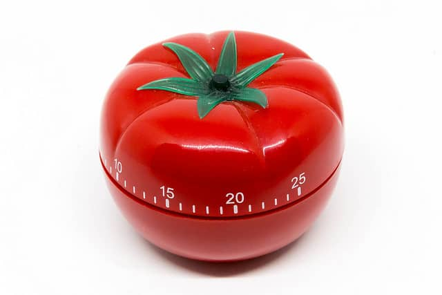 A kitchen pomodoro timer. The double pomodoro technique is great for managing time during a DDD Event Storming