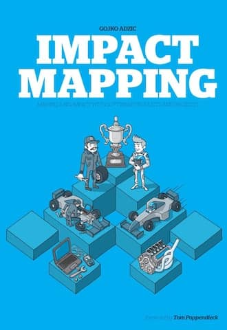 Cover of the Impact Mapping book. While DDD Big Picture Event Storming brings up a high level, full scope view, Impact Mapping helps paraticipants to focus on what needs to be done first