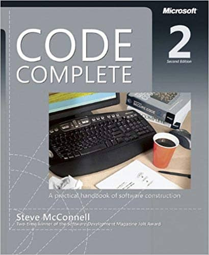 Cover of Steve McConnell's classic book Code Complete
