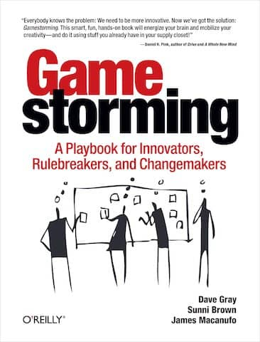 Cover of the GameStorming book that contains tons of creative design activities which many rely on post-its