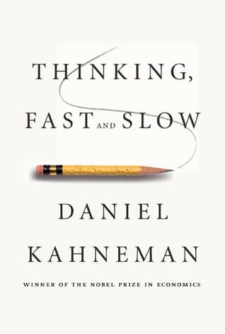 Cover of the book Thinking Fast and Slow. Daniel Kahneman said that algorithms are better than humans about decision involving a lot of uncertainty