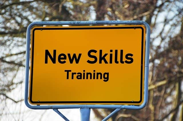 A road-sign written 'New Skills Training': not preparing for Event Storming facilitation before the first workshop with the domain experts might screw up your whole DDD injection