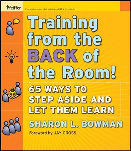 Cover of the book Training from the back of the room. By letting pairs work through the exercices by themselves, Randori-in-pairs let you, the trainer, adopt a back seat position.