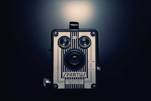 Photo of a retro camera. Turning your camera on when remote pair coaching is a good way to show that you face-to-face communication is still of great importance, even in remote work